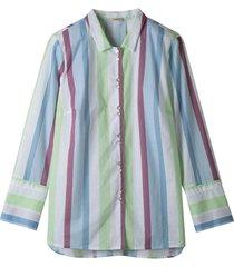 hemdblouse met pastelkleurige blokstrepen, wit-gestreept 44