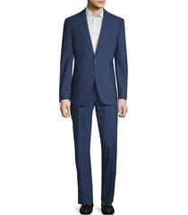 calvin klein men's extreme slim-fit wool suit - blue - size 42 s