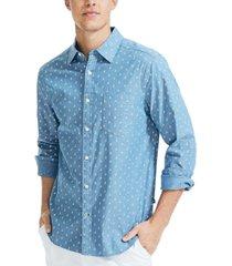 nautica men's classic fit sailboat print shirt