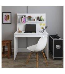 mesa escrivaninha artany first home office 1 gaveta com painel