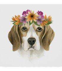 "grace popp flower crown pup iv canvas art - 20"" x 25"""