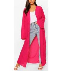 crinkle maxi kimono, hot pink