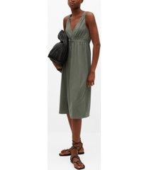 mango women's elastic waist dress