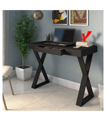 mesa escrivaninha artany veneza mdp 1 gaveta preta