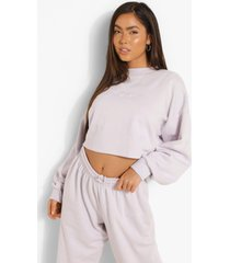 woman korte geborduurde sweater, lilac haze