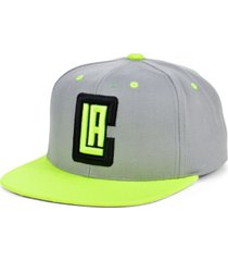 mitchell & ness los angeles clippers volt snapback cap