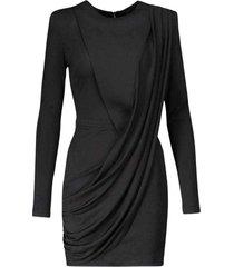 voile gedrapeerde mini jurk