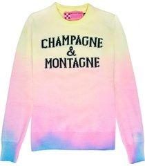 mc2 saint barth tie dye woman sweater champagne & montagne print