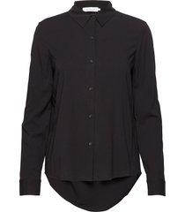 milly np shirt 9942 overhemd met lange mouwen zwart samsøe samsøe