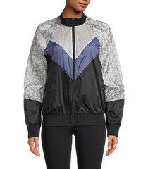 printed full-zip jacket