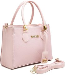 bolsa gouveia costa tote-shopper casual alça mão zíper dia a dia rosa