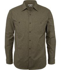 wolverine men's plainwell long sleeve shirt espresso heather, size xxl