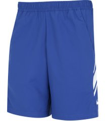 "bermuda nike court dri-fit 9in"" - masculina - azul/branco"