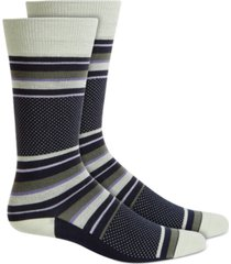 alfani men's stripe dot socks, created for macy's