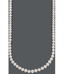 belle de mer cultured freshwater pearl strand necklace (8-1/2-9-1/2mm) in 14k gold