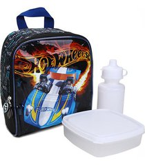 lancheira escolar infantil luxcel hot wheels