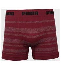 cueca puma boxer listrada vermelha