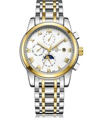 reloj, relojes de acero luminoso mecánico-blanco