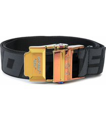 off-white black industrial buckle belt