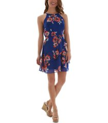 bcx juniors' floral-print ruffled dress