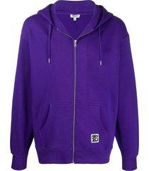 kenzo ama diver zipped hoodie - purple