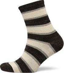 dory stripe lingerie socks regular socks svart becksöndergaard