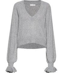 a whole lot of lovely sweater stickad tröja grå odd molly