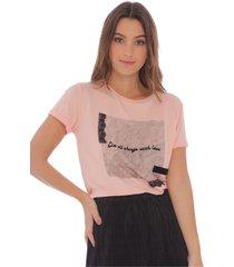 camiseta  estampada palo de rosa para mujer x49498