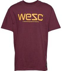 mason logo t-shirt t-shirts short-sleeved röd wesc
