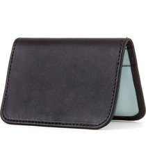 women's clare v. bifold leather card case - black