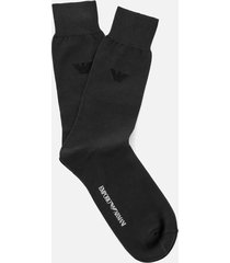 emporio armani men's filoscozia cotton socks - anthracite - l - grey
