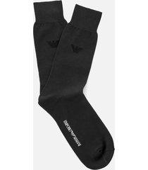 emporio armani men's filoscozia cotton socks - anthracite - l - grey