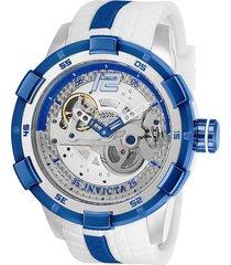 reloj invicta blanco azul modelo 266ah para hombres, colección s1 rally