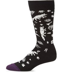 paul smith men's street fox mid-calf socks - black