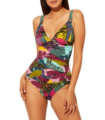 women's bleu by rod beattie jungle book tankini top, size 12 - pink