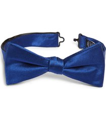 men's nordstrom solid silk bow tie, size one size - blue