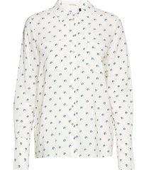 lila shirt overhemd met lange mouwen wit pieszak