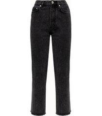 a.p.c. jeans jean rude in denim nero