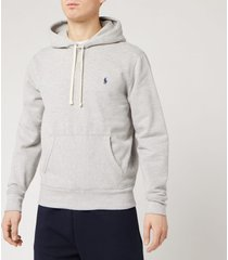 polo ralph lauren men's fleece hoodie - andover heather - s
