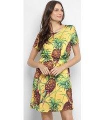 vestido camisetão lança perfuma abacaxi