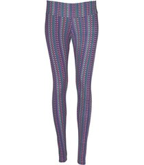 leggings deportivo tobillero estampado mujer azul tykhe kira
