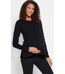 zwangerschapstrui / voedingstrui met blouse-inzet