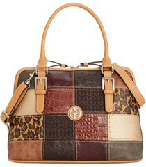 giani bernini patchwork dome satchel, created for macy's