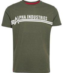alpha industries t t-shirts short-sleeved grön alpha industries