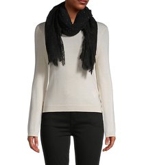 lace cashmere-blend scarf