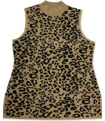 jm collection petite jacquard sleeveless sweater, created for macy's
