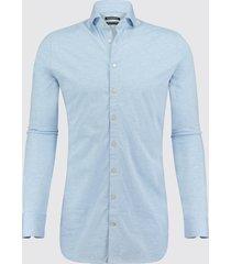 blue industry heren overhemd oscar jersey semi spread boord