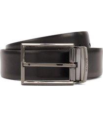 cinturón reversible cuero negro boss