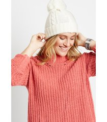 maurices womens solid chenille mock neck pullover sweater pink