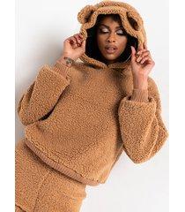 akira gimme da honey pot sherpa bear ears hoodie and shorts